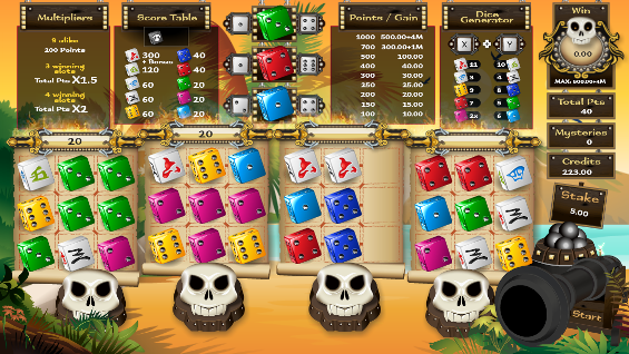 Pirates Dices Basis Spel